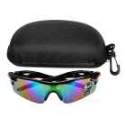 OULAIOU UV400 Plastic Frame PC Lens Sunglasses - Black