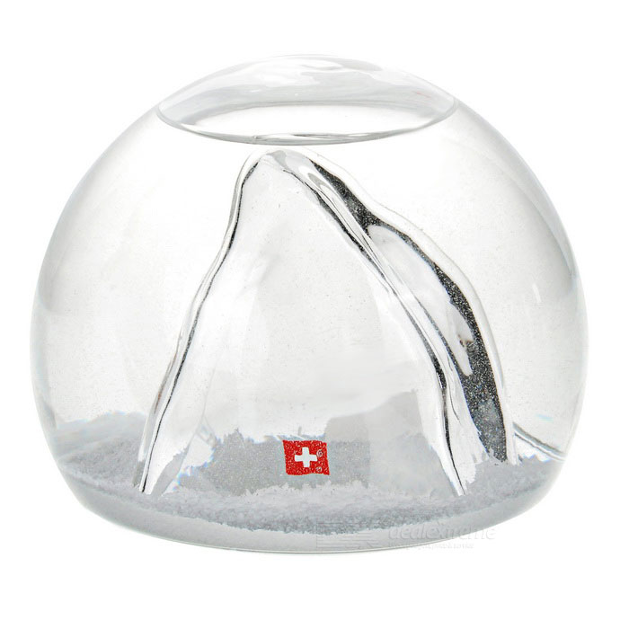 Gift / Home Decoration Clear Alps Glass Crystal Ball Sphere - White