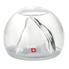 Good Gift / Home & Office Decoration Clear Alps Glass Crystal Ball Sphere - White + Transparent