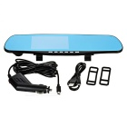 "4.3"" Screen 170-Degree Visible Angle Rearview Mirror Car DVR - Black"