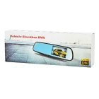 "4.3"" Car Rearview Mirror DVR w/ Night Vision, 2 Cameras - Black + Blue"