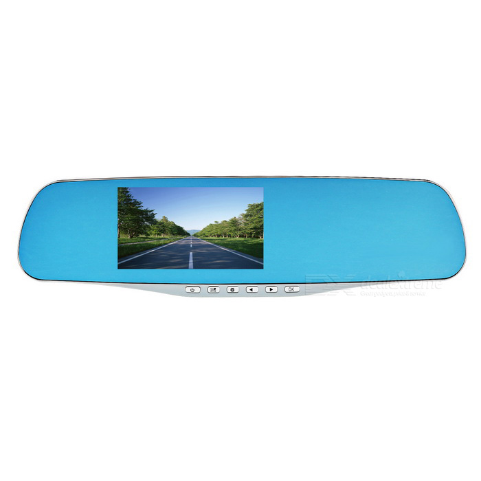 "4.3"" Screen 170-Degree Visible Angle Rearview Mirror Car DVR - Silver"