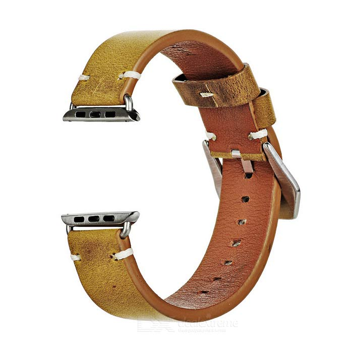 Italian Leather Watchband w/ Attachments for 42mm Apple Watch - Brown