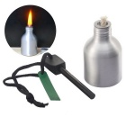 Outdoor Long Time Survival Multi-Function Tactical Stone Flint + Alcohol Lamp for Warm and Lighting