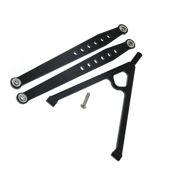 RC Aluminum Front Chassis Links Tree SCX10 Upgrade Part - Black