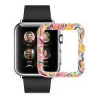 Protective Plastic Case for 38mm APPLE WATCH - White + Multi-Color
