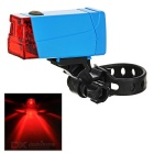 Leadbike Red Light LED 2-Mode Bicycle Warning Tail Lamp - Blue + Red (2 x AAA)