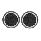 Silicone Analog Joystick Caps para PS4, XBOX ONE - Preto + Branco (2PCS)