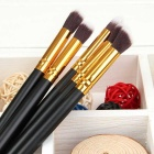 Professional 10-In-1 Cosmetic Tool Makeup Brushes Set - Black + Golden