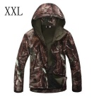 Men's Outdoor Loose Big Leisure Warm Wind-Proof Polyester Coat - Tree camouflage (XXL)