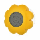 Bluetooth Speaker Waterproof Suction Cup Bathroom Speaker - Yellow + Grey