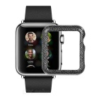 Protective Patterned Watch Case for APPLE Watch 42mm - Black + Silver