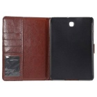 Cloth Grain PU Leather Case w/ Stand for Samsung Tab S2 8.0 - Black