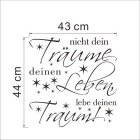 Traume German Words & Quotes Wall Decals PVC Wall Stickers - Black