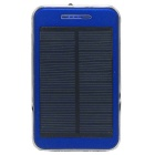 "Solar Powered ""48000mAh"" Li-polymer Battery Charger Power Bank w/ Flashlight - Blue"