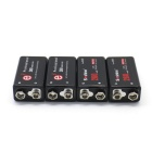 "Soshine Rechargeable 9.6V ""260mAh"" 6F22 NiMH Battery - Black (4 PCS)"