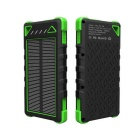 Universal 8000mAh Dual USB Solar Power Bank for IPHONE 5S / IPHONE 6 / IPHONE 6 PLUS + More - Green