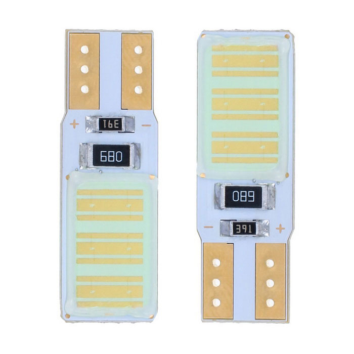 T10 3W 180lm Ice Blue 12-COB LED Car License Plate / Width Lamp (Pair)