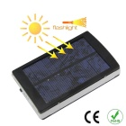 Solar Powered 5000mAh Mobile Power Bank w/ LED Light for IPHONE, Samsung, Xiaomi - Black + White