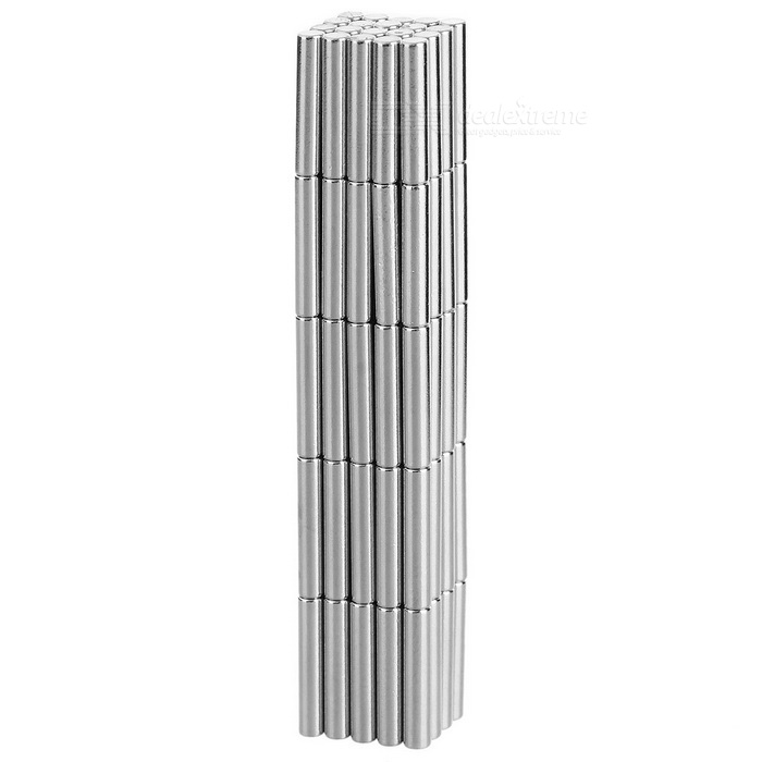 D2*10mm Cylindrical Strong NdFeB Magnet - Silver (100PCS)