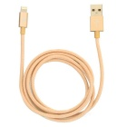 Apple-8Pin Blitz-USB-Daten-Synchronisierungs / Ladekabel - Khaki (1m)