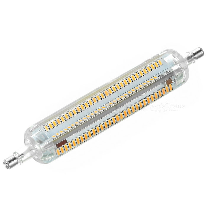 R7S LED Corn Bulb Lamp Warm White 3500K 730lm 218-4014 SMD (AC 220V)Form  ColorWhite + Orange + Multi-ColoredColor BINWarm WhiteMaterialSiliconeQuantity1 DX.PCM.Model.AttributeModel.UnitPowerOthers,10WRated VoltageAC 220 DX.PCM.Model.AttributeModel.UnitConnector TypeOthers,R7SChip BrandOthers,N/AEmitter TypeOthers,4014Total Emitters218Theoretical Lumens730~750 DX.PCM.Model.AttributeModel.UnitActual Lumens700~730 DX.PCM.Model.AttributeModel.UnitColor Temperature12000K,Others,2500~3500KDimmableNoBeam Angle360 DX.PCM.Model.AttributeModel.UnitPacking List1 x LED lamp<br>