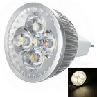 MR16 4W LED Bulb Warm White 3000K 280lm - Silver + White (12V)