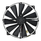 Akasa 22cm Case Fan Near Silent Black Case Fan