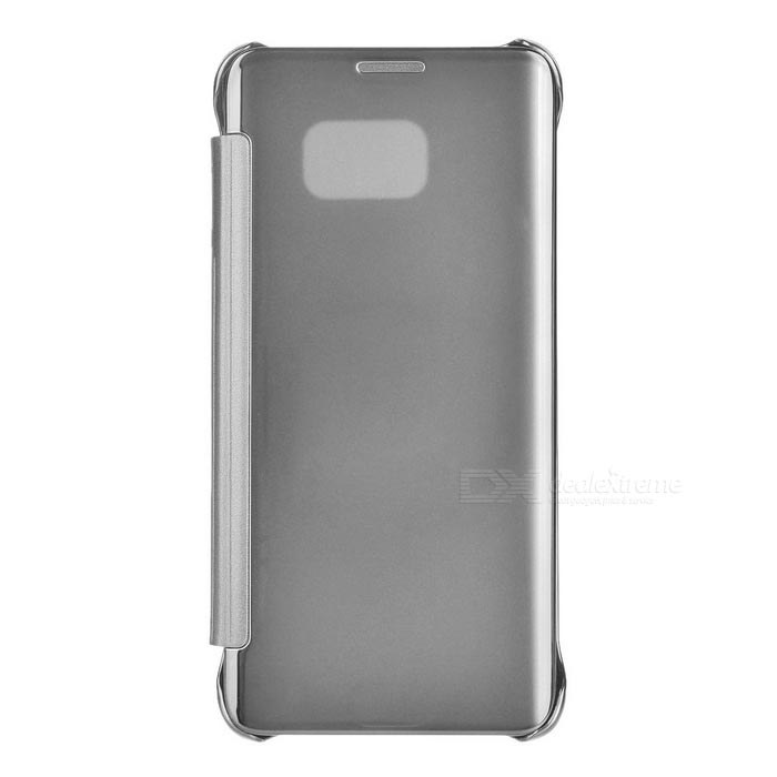 Protective PU Back Case for Samsung S6 Edge Plus - Silver