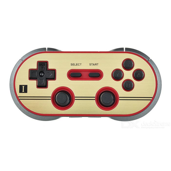 8Bitdo FC30 PRO wireless bluetooth controlador gamepad - dourado + preto