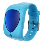 "Smart GPS Watch w/ 1.1"" OLED for Children - Blue (EU Plug)"