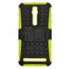 TPU + PC Case w/ Holder for ASUS Zenfone 2 - Green + Black