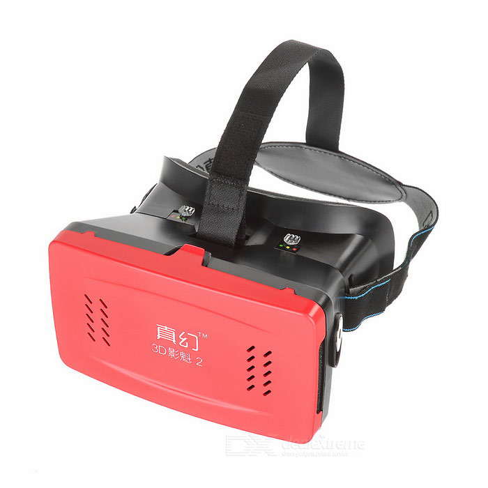 """RITECH II Virtual Reality 3D Glasses w/ Suction Disk for 3.5~6.0"""" Smart Phones - Red"""