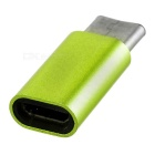 USB 3.1 Type-C to Micro USB Data Charging Adapter - Fluorescent Green