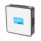 All-in-One USB 3.0 SD TF CF MS M2 XD Card Reader - Black + White