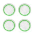 Gamepad Thumb Stick Grips Cap for PS4, XBOX One - Green + White (4PCS)