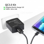 Itian K6 Premium Quick Charge 2.0 15W Wall Charger - Black