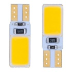 T10 3W 12-COB LED Car License Plate / Indoor Light / Width Lamp Yellow Light 140lm (12V / 2 PCS)