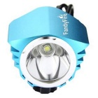 FandyFire T6 3-Mode Cold White LED Headlight for Mountain Bike - Blue