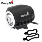 FandyFire Outdoor T6 3-Mode Cool White LED Headlight for Bike - Black