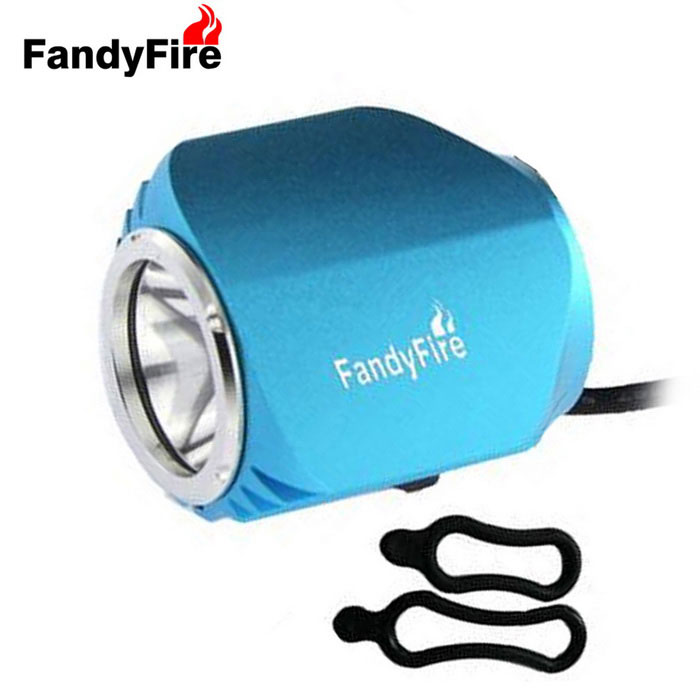 FandyFire Outdoor T6 3-Mode Cold White LED Bike Headlight - Blue