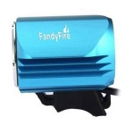 FandyFire Outdoor T6 3-Mode Cool White LED Bike Headlight - Blue