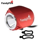FandyFire Outdoor T6 3-Mode Cool White LED Headlight for Bike - Red
