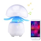 QGD-001 Rechargeable Bluetooth 3.0 Speaker / Touch Control Lamp w/ TF / Hands-free - White + Blue