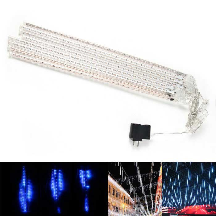 Decoration 30-LED Blue Light Rain Style Tube Lights - White (8PCS)