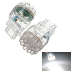 T25 3157 3057 3W 200lm 6500K 24-LED Car Brake Stop Turn Signal Light Bulb White Light (Pair)