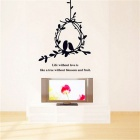 Love Birds Wall Decals PVC Wall Stickers - Black