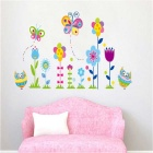 Butterfly Green Health Wall Decals PVC Wall Stickers - Green + Pink + Multi-Colored