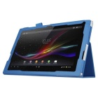 PU Leather Smart Case w/ Stand for Sony Xperia Tablet Z4 - Light Blue