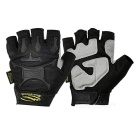 Mountainpeak Men's Outdoor Cycling Half-Finger Nylon Gloves - Black (L / Pair)